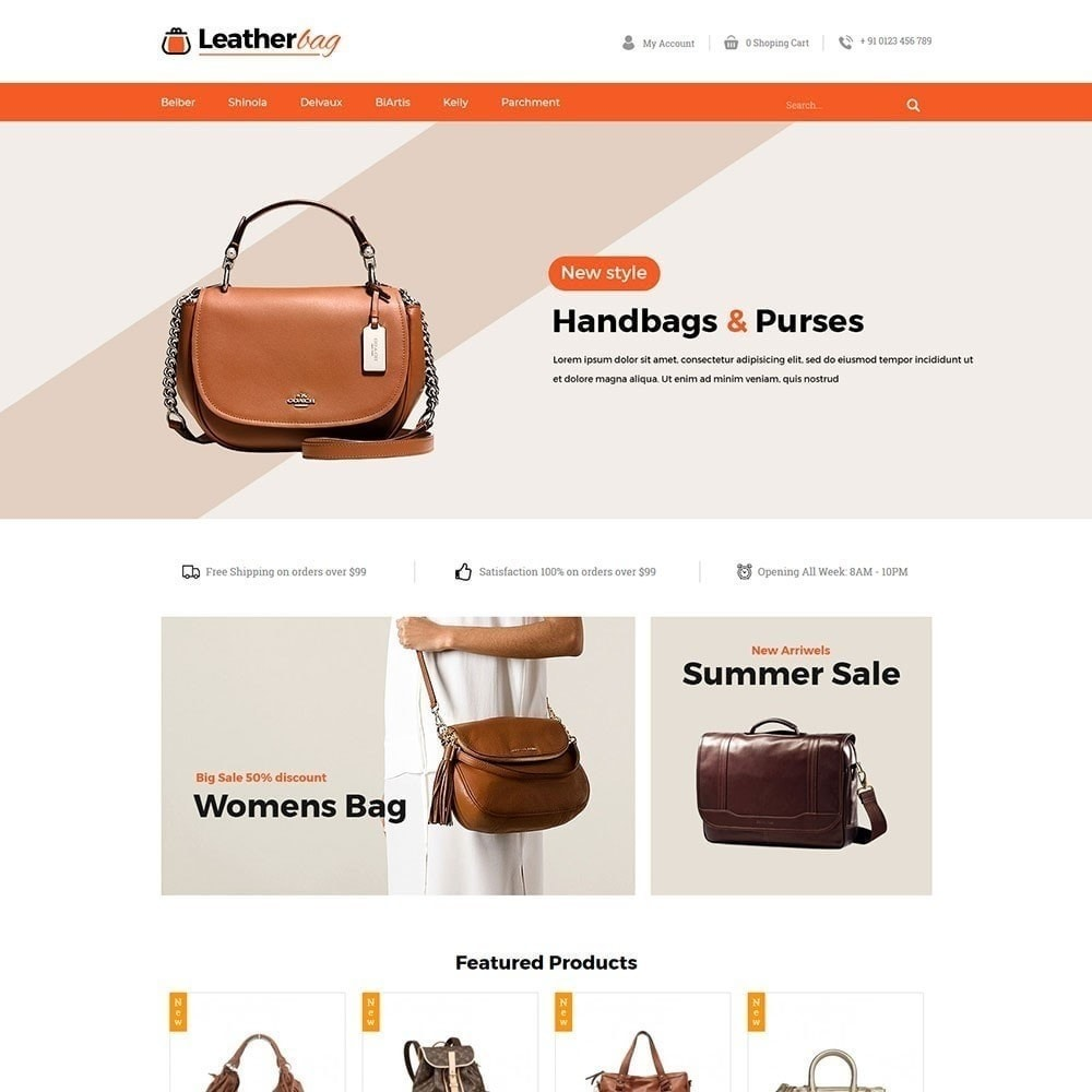 theme - Fashion & Shoes - Leather Bag Store - 2