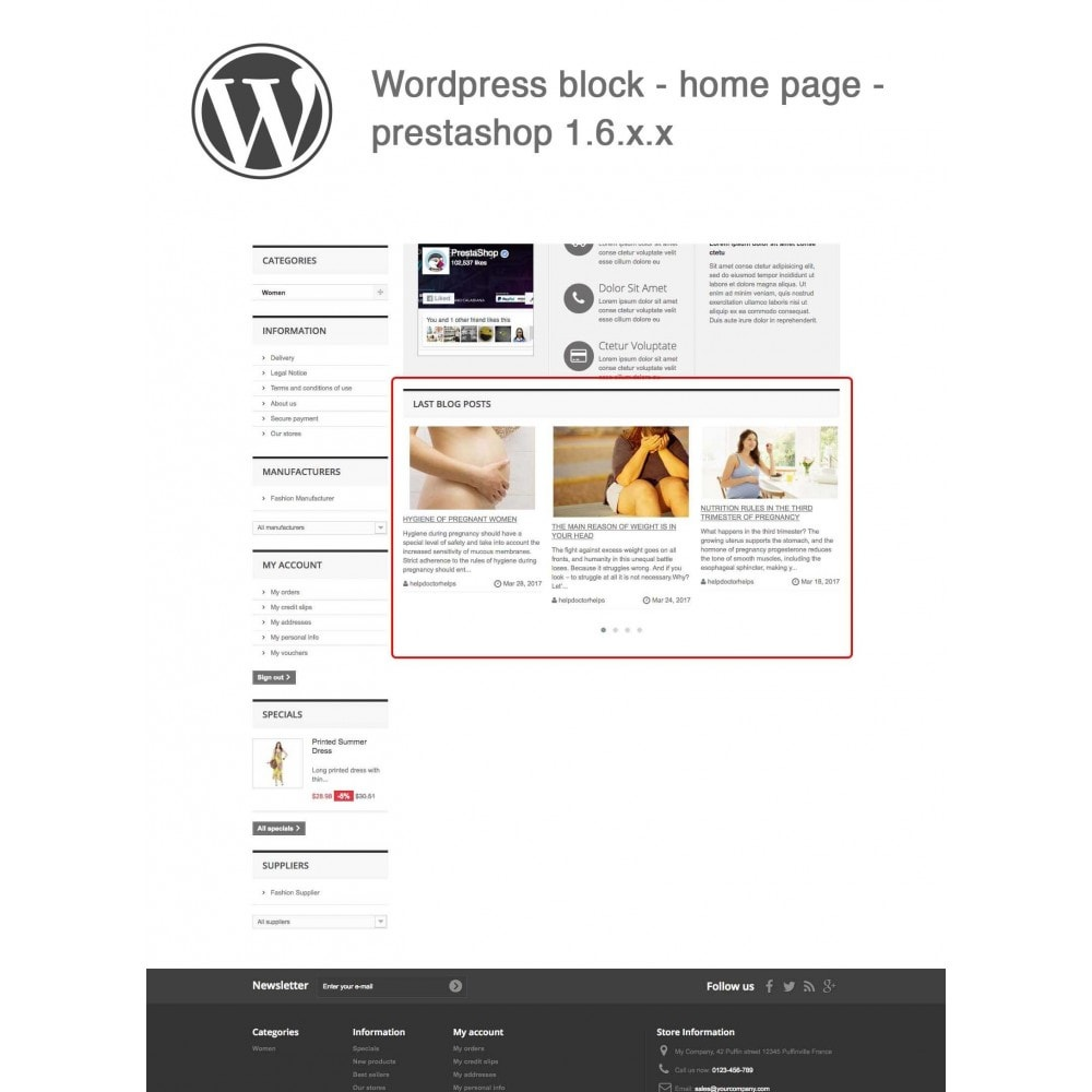 module - Blog, Forum & Actualités - Block Last Wordpress Blog Posts - 7