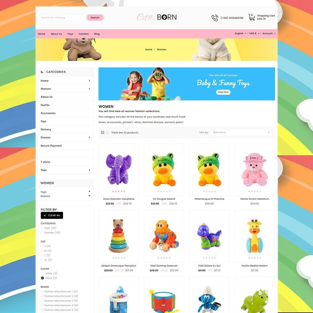 theme - Kids & Toys - Cute Born Toy Store - 4