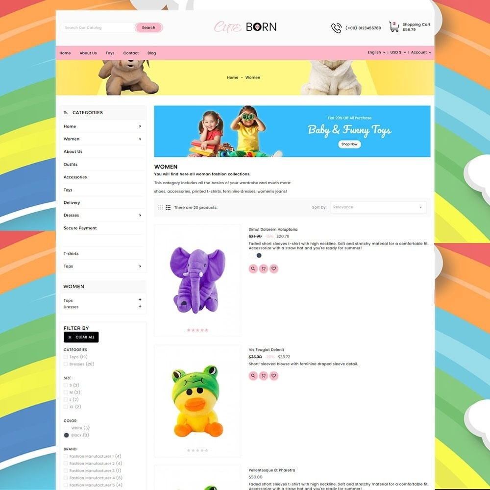theme - Kids & Toys - Cute Born Toy Store - 5