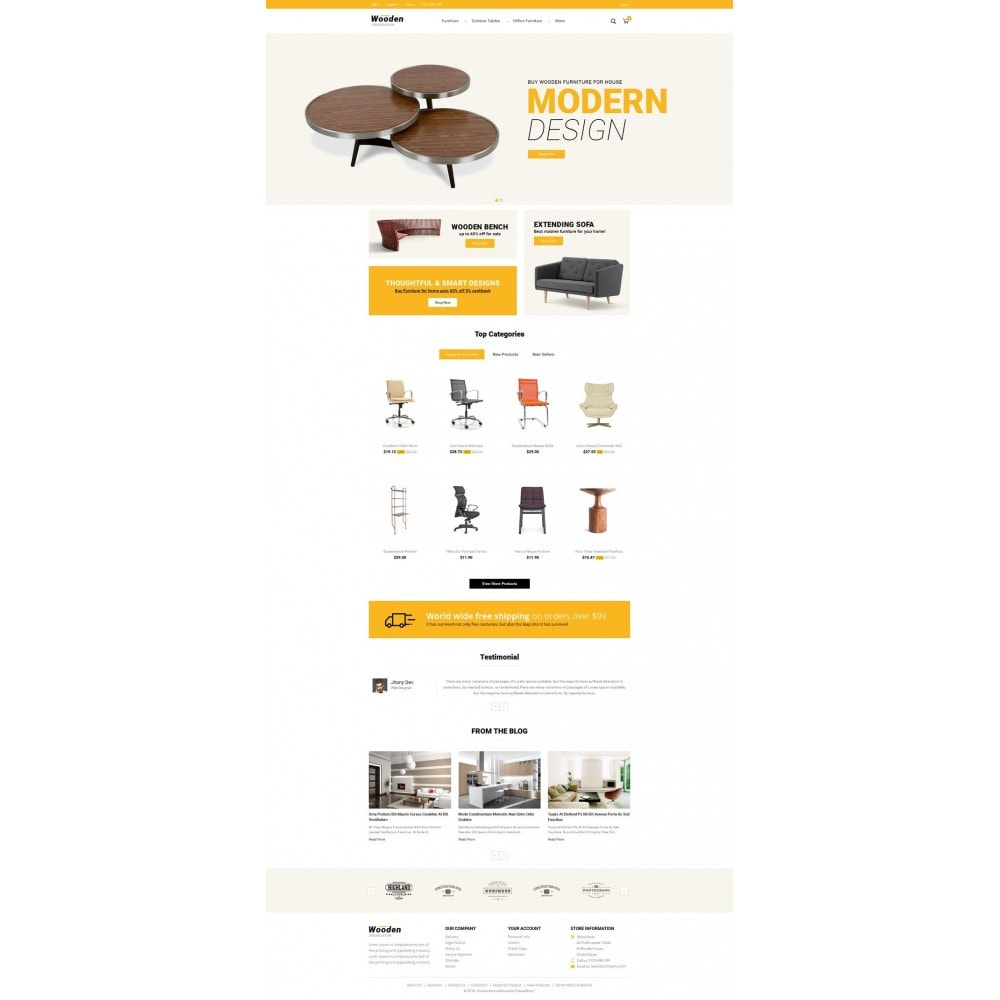 theme - Home & Garden - Wooden - Furniture Store - 2