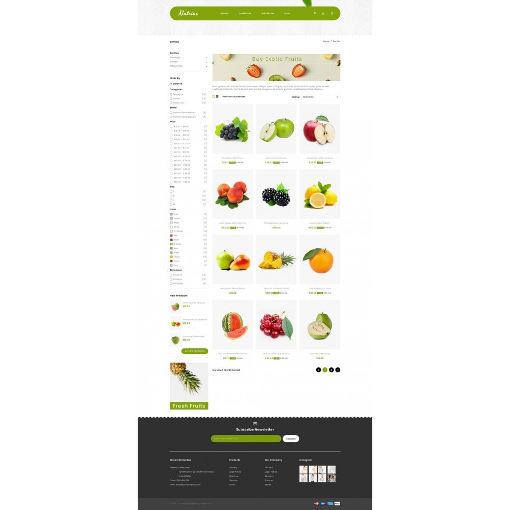 Nutrior - Fruits Store
