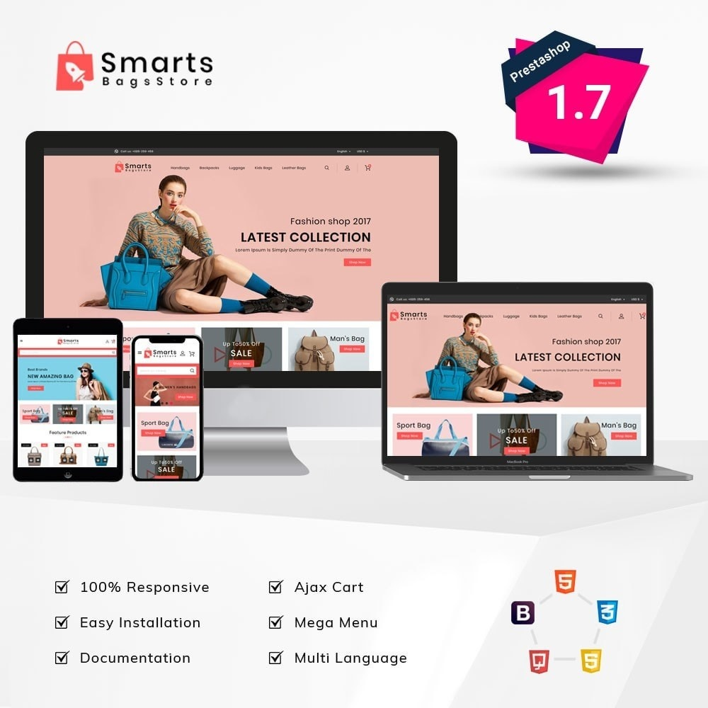 theme - Fashion & Shoes - Smart Bag Store - 1