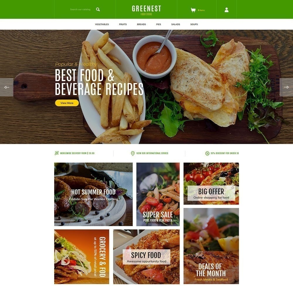 theme - Alimentation & Restauration - Greenest - Magasin d'alimentation - 4