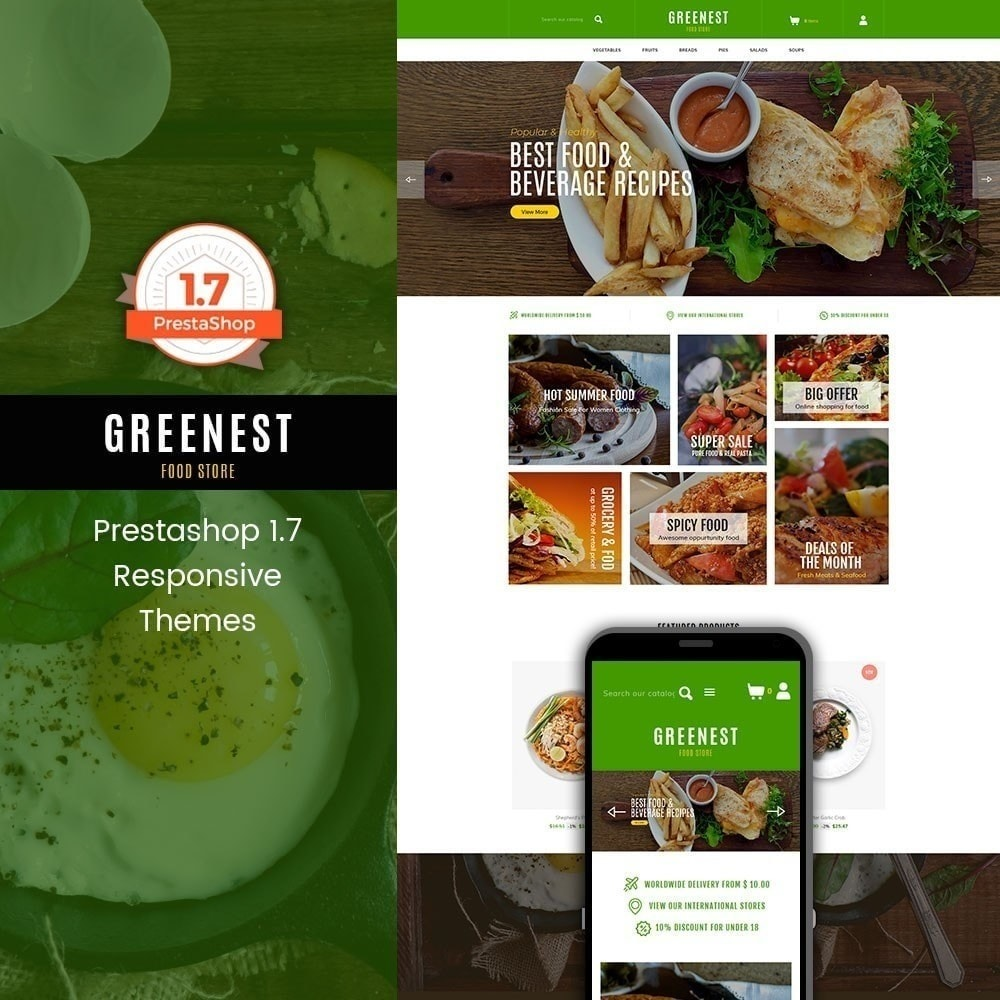 theme - Alimentos & Restaurantes - Mais ecológico - Food Store - 1
