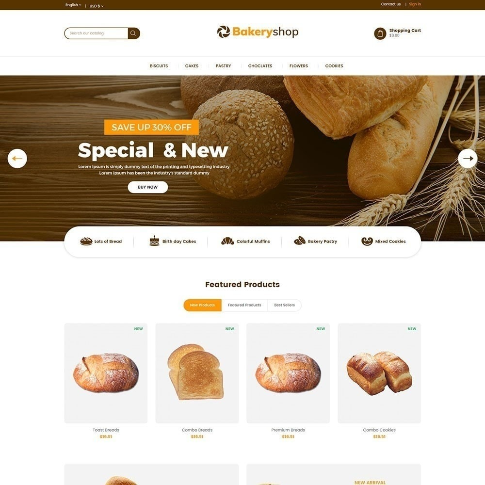 Bakery Food Store