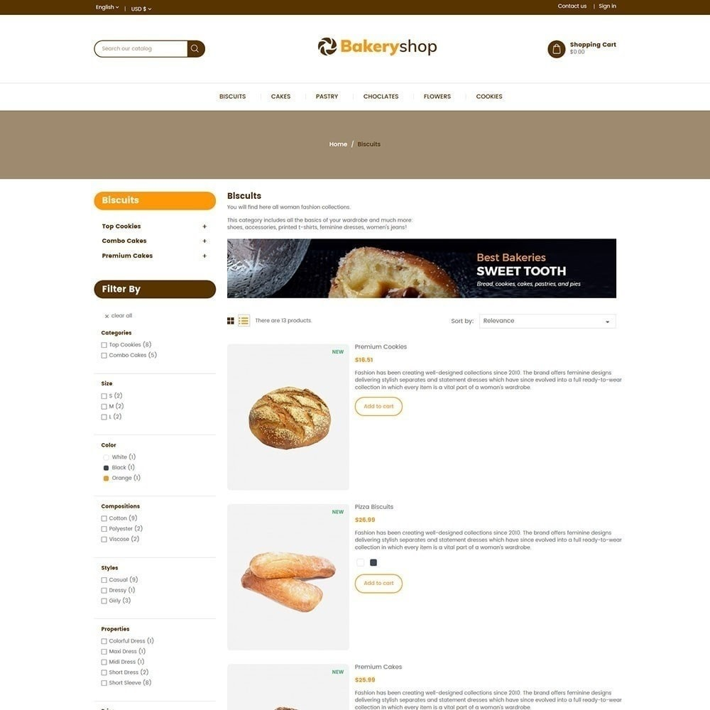 theme - Food & Restaurant - Bakery Food Store - 4