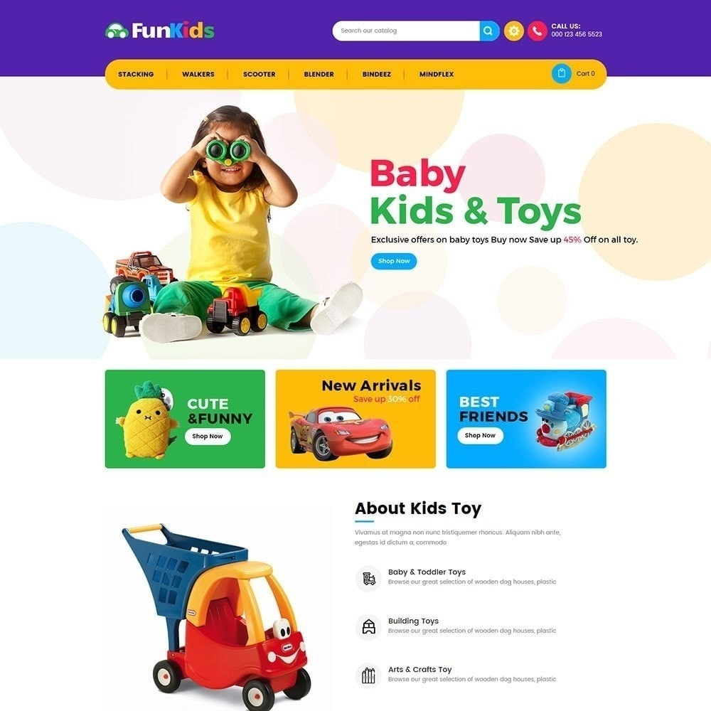 theme - Kids & Toys - Fun Kids -  Toy Store - 5