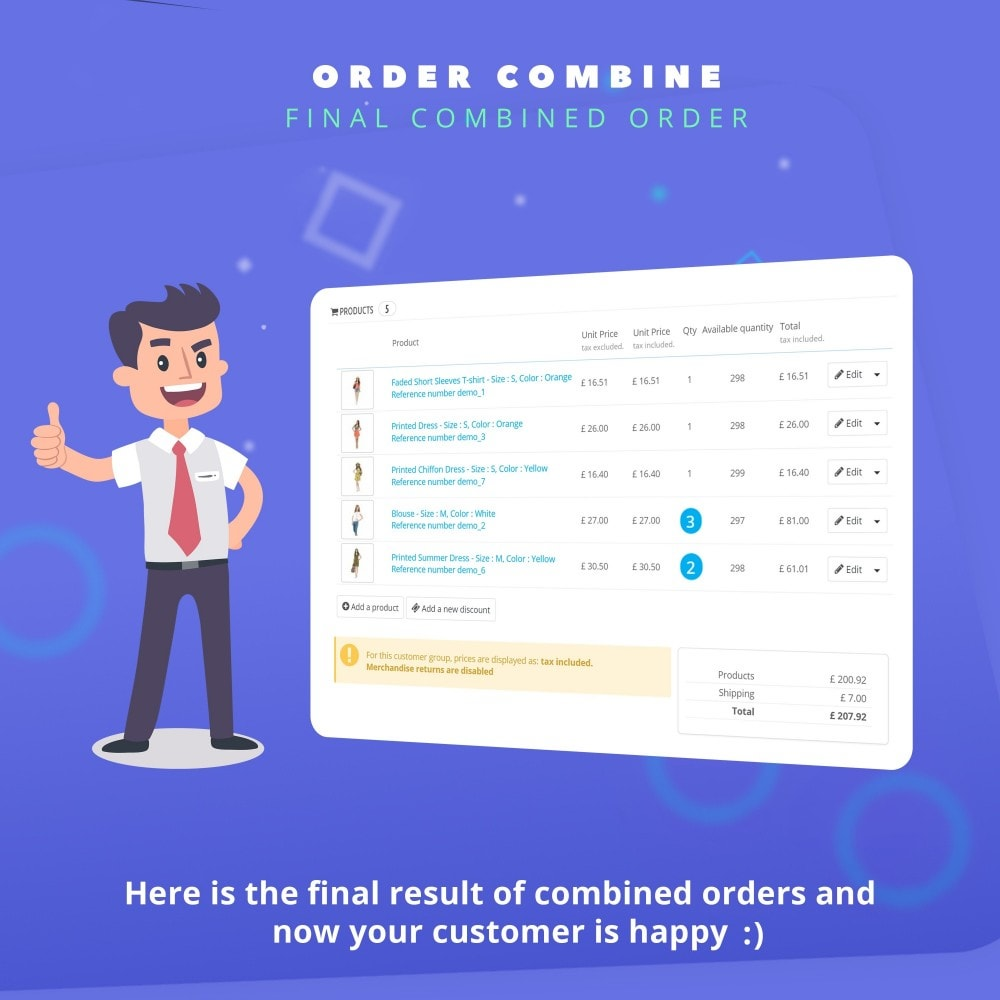 module - Order Management - Fast Combine Order / Invoice - 7
