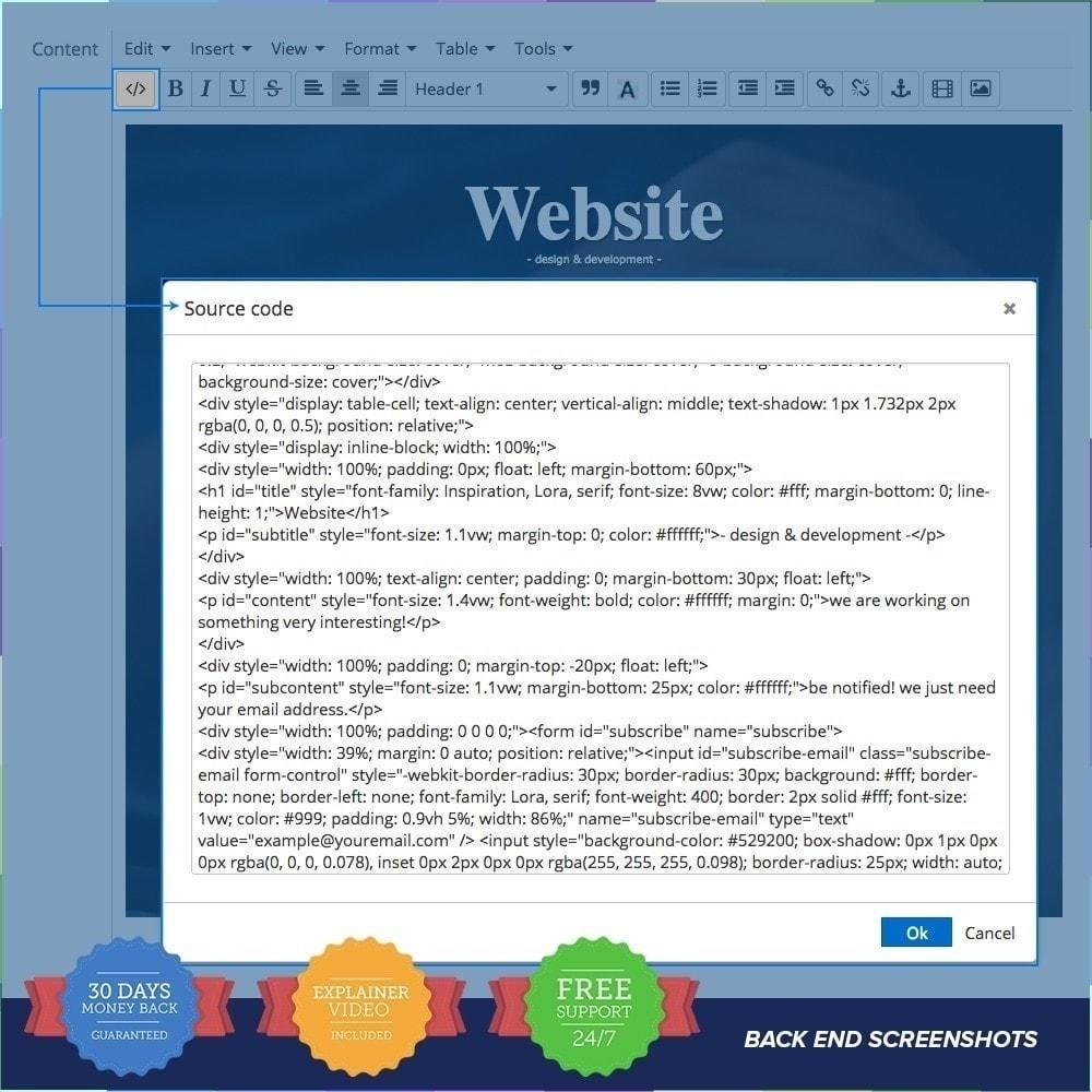 module - Personnalisation de Page - Page de maintenance personnalisée PRO - 5