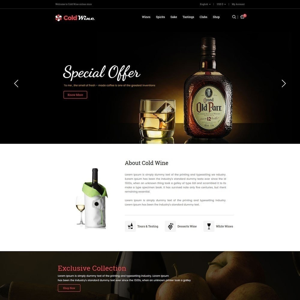 theme - Drink & Tobacco - Recwine - Wine Store - 2