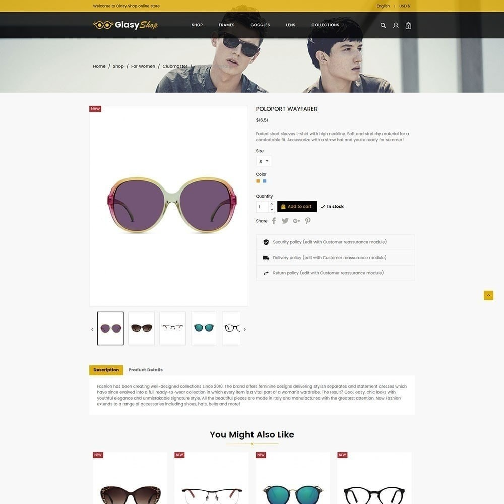 theme - Moda y Calzado - Tienda de moda de cristal de sol - 4