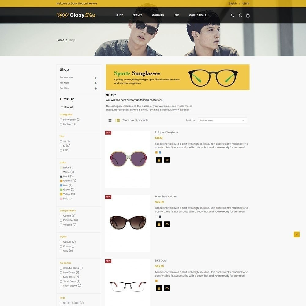 theme - Moda & Obuwie - Sun Glass Fashion Store - 2