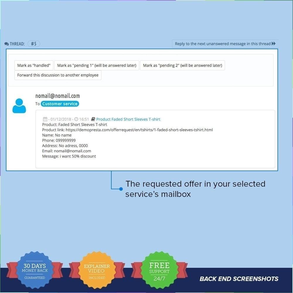 module - Information supplémentaire & Onglet produit - Demande d'offre / Devis PRO - 5
