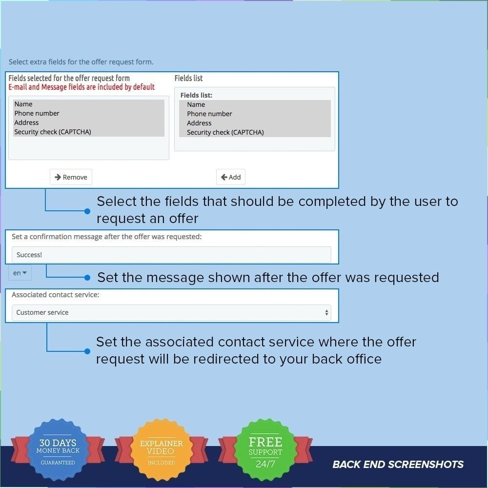 module - Informaciones adicionales y Pestañas - Solicitud de Oferta / Presupuesto PRO - 2