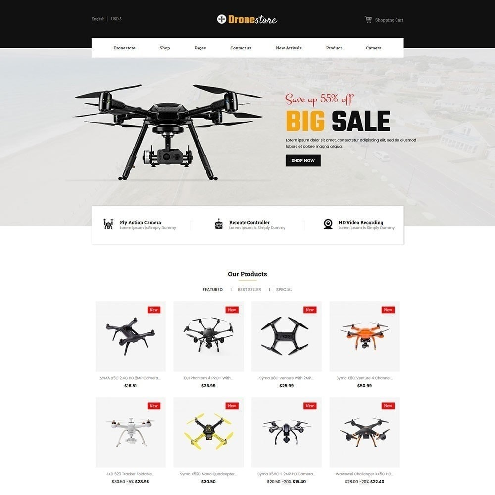 theme - Electronics & Computers - Drone - Digital  Store - 2