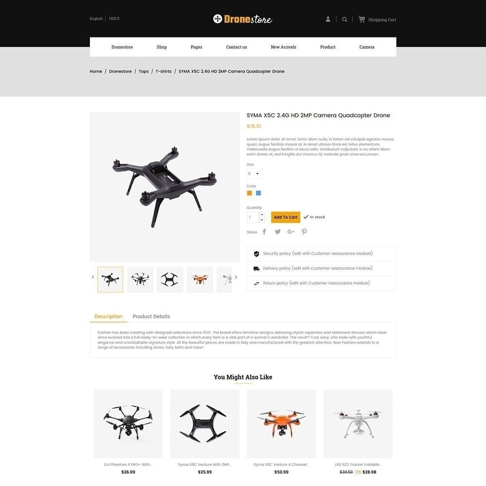 theme - Elektronica & High Tech - Drone - Digital Store - 3