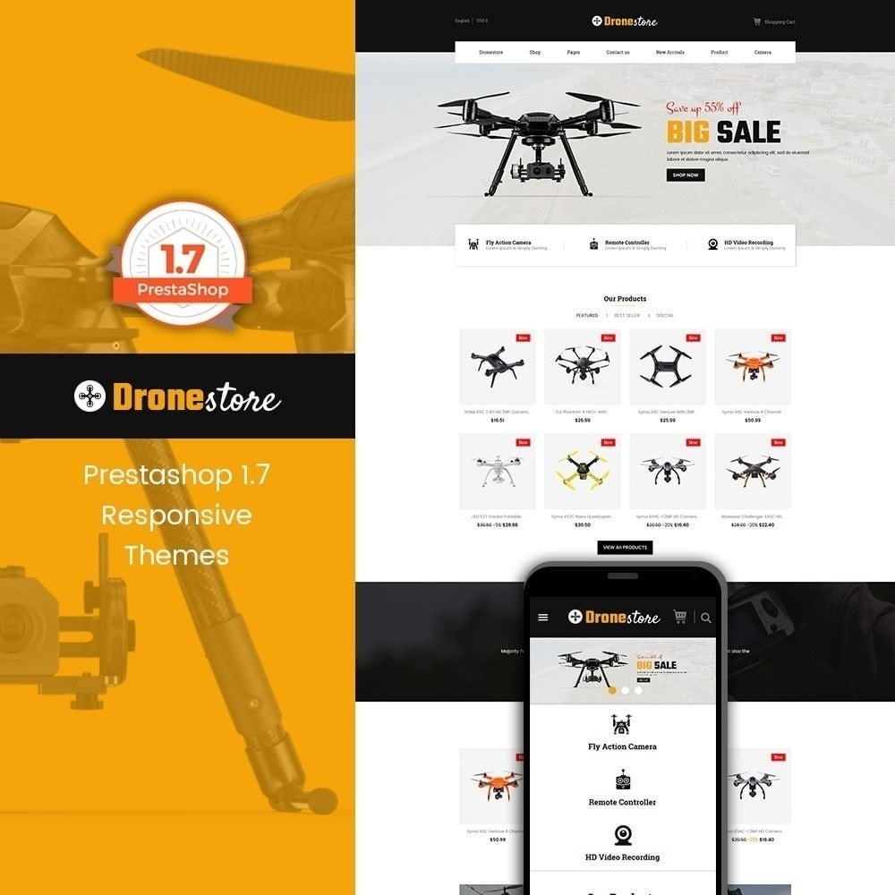 theme - Eletrônicos & High Tech - Drone - Loja Digital - 1