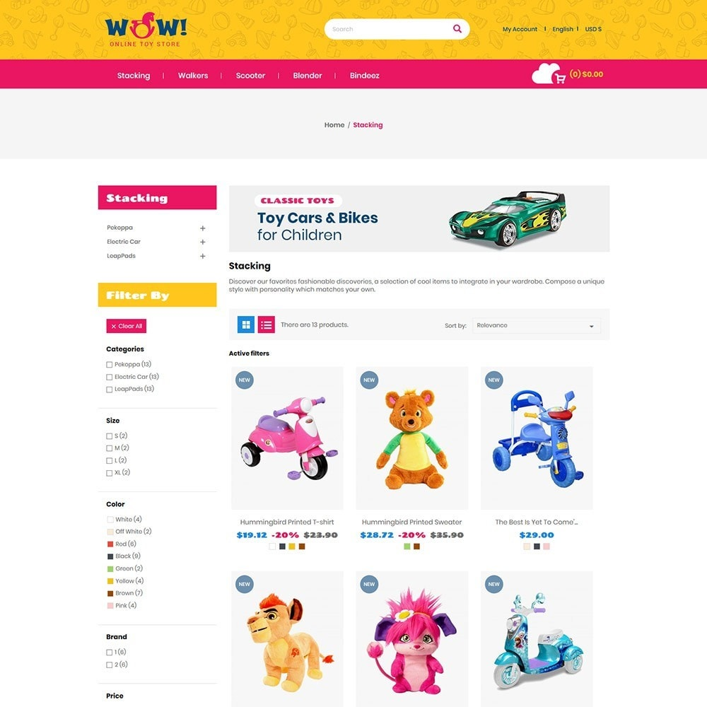 theme - Kids & Toys - Wow  Online Kids Store - 3