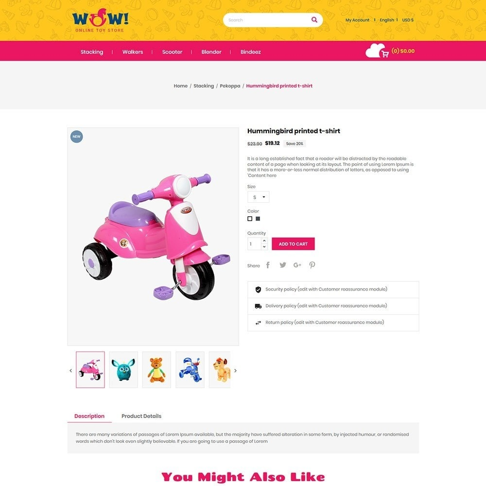 theme - Kids & Toys - Wow  Online Kids Store - 4