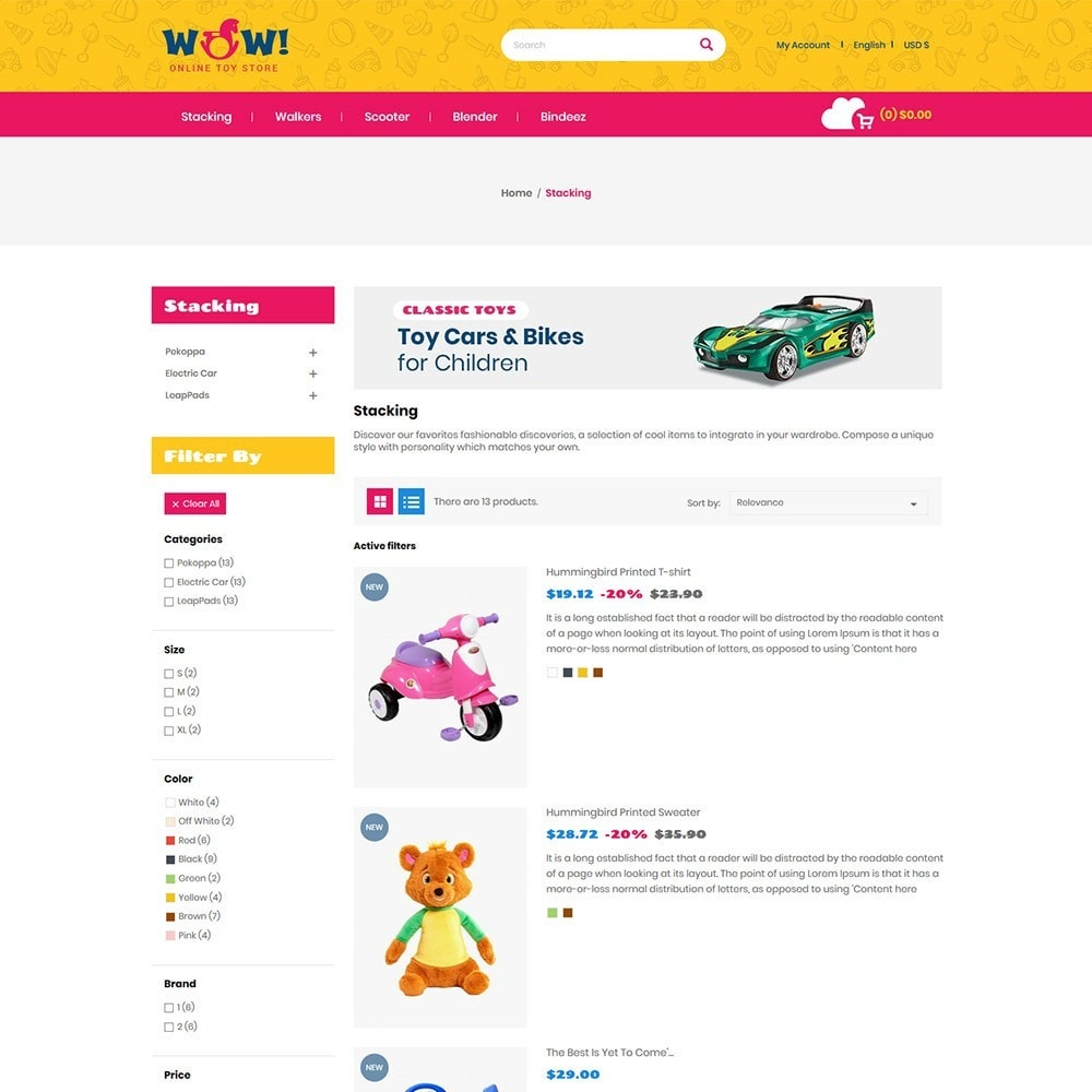 theme - Kids & Toys - Wow  Online Kids Store - 5