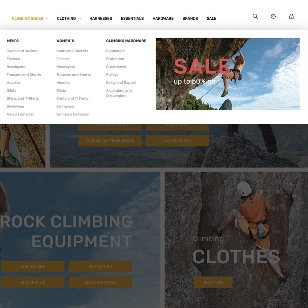 theme - Sports, Activities & Travel - ClimberStore - 5