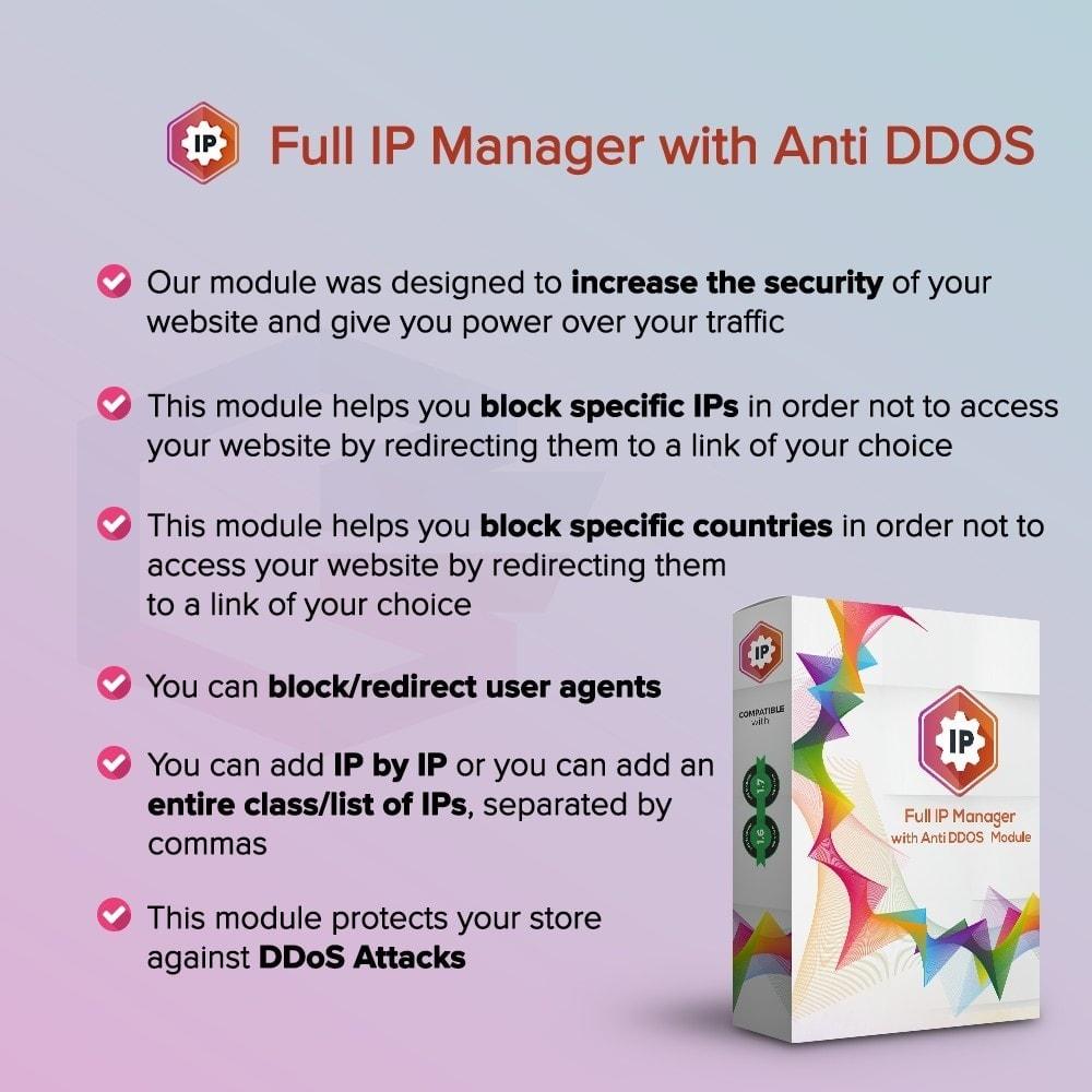 module - Sécurité & Accès - Gestionnaire IP complet avec anti DDOS - 1