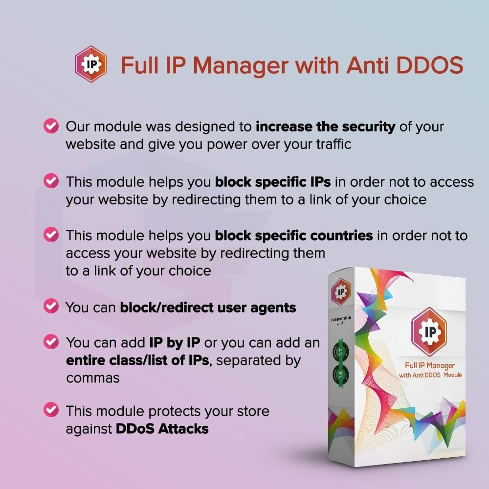 module - Security & Access - Full IP Manager with Anti DDOS - 1