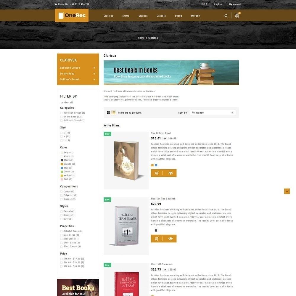 theme - Kultura & Sztuka - Jeden Rec Book Store - 4