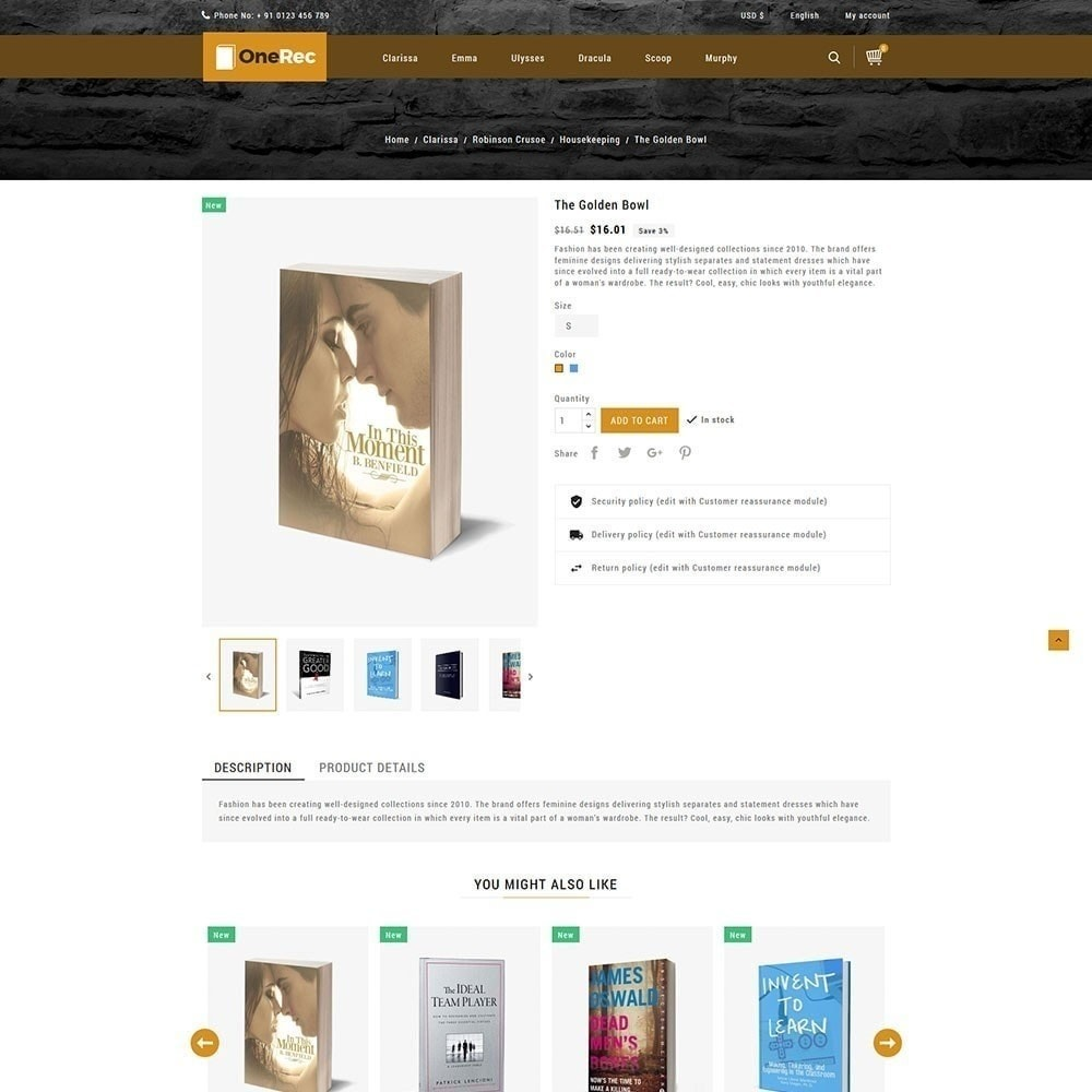 theme - Kultura & Sztuka - Jeden Rec Book Store - 6
