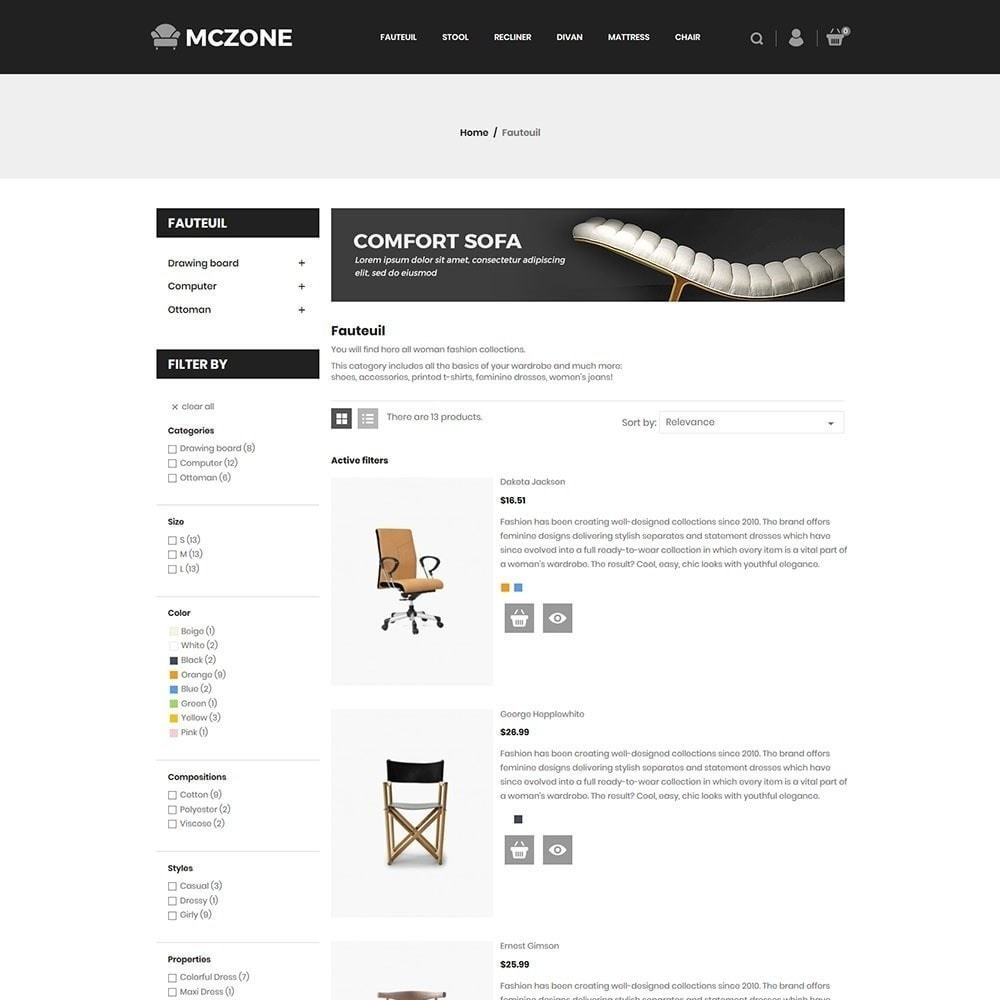 theme - Art & Culture - MacZone Furniture Store - 5
