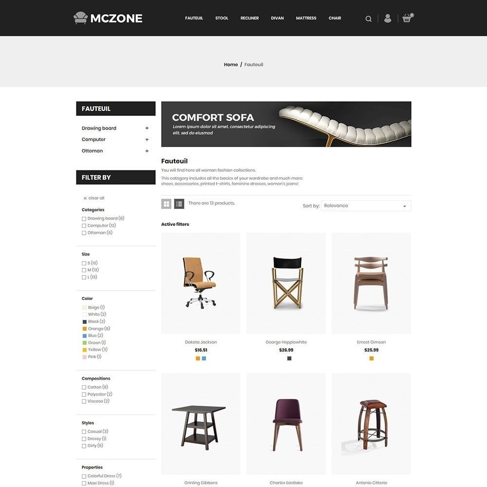Magasin de meubles MacZone