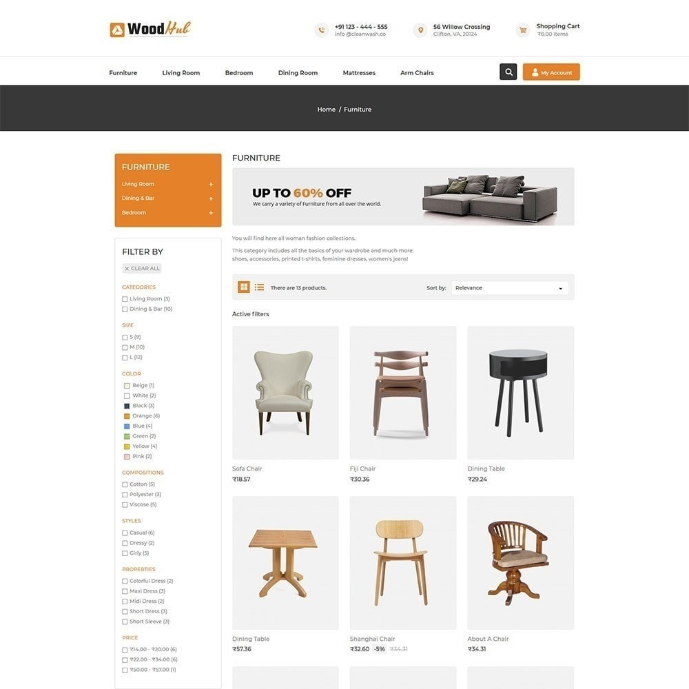 theme - Casa & Giardino - Woodhub Furniture Store - 5