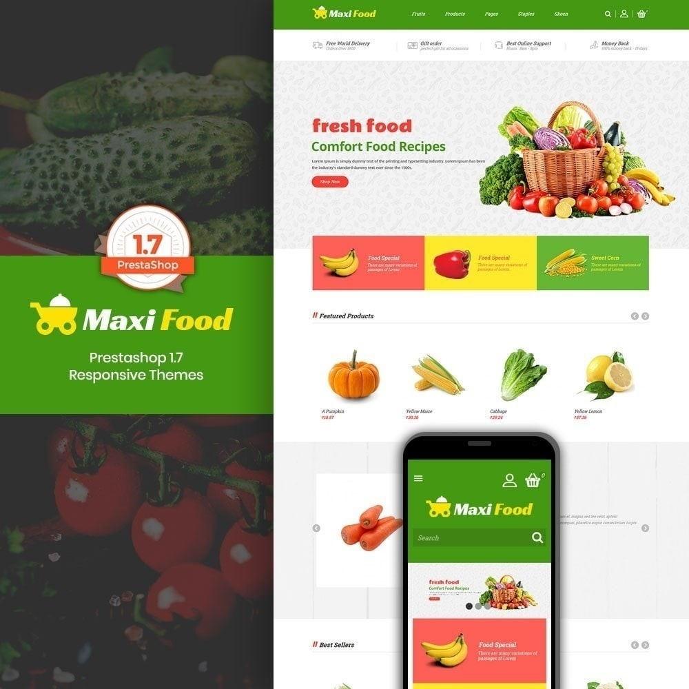 theme - Food & Restaurant - Maxi Food Store - 1