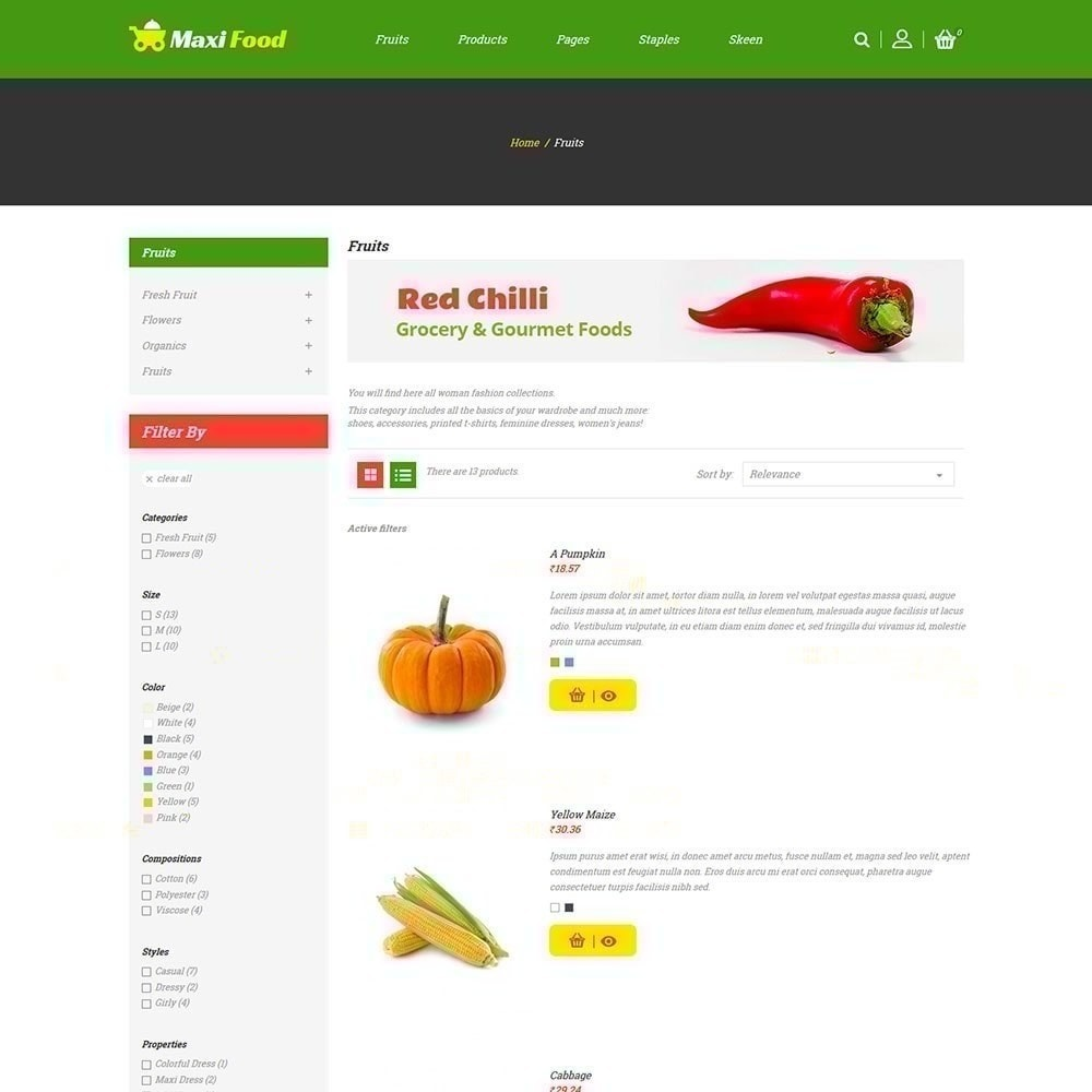 theme - Żywność & Restauracje - Maxi Food Store - 2