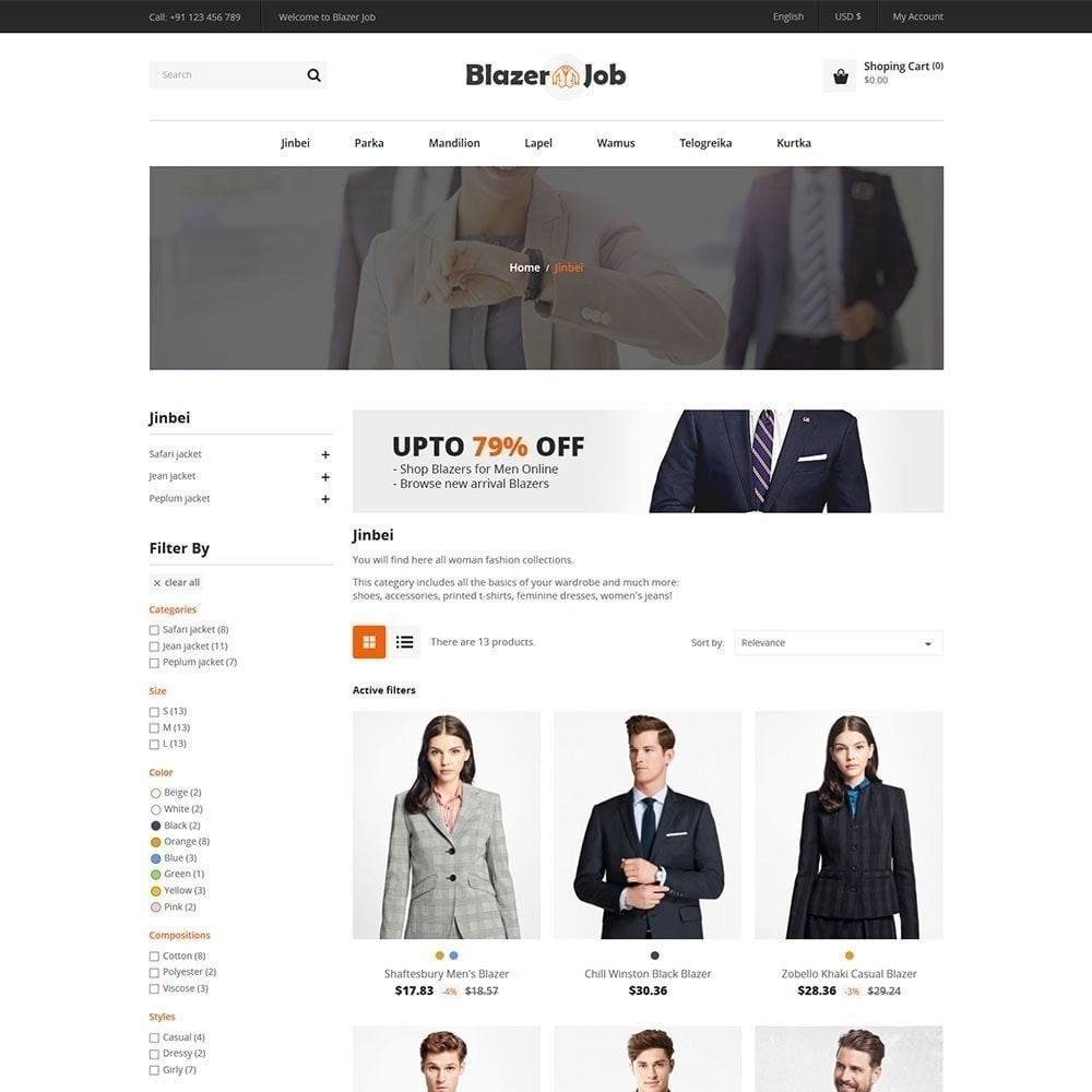 theme - Fashion & Shoes - Blazerjob Fashion Store - 2