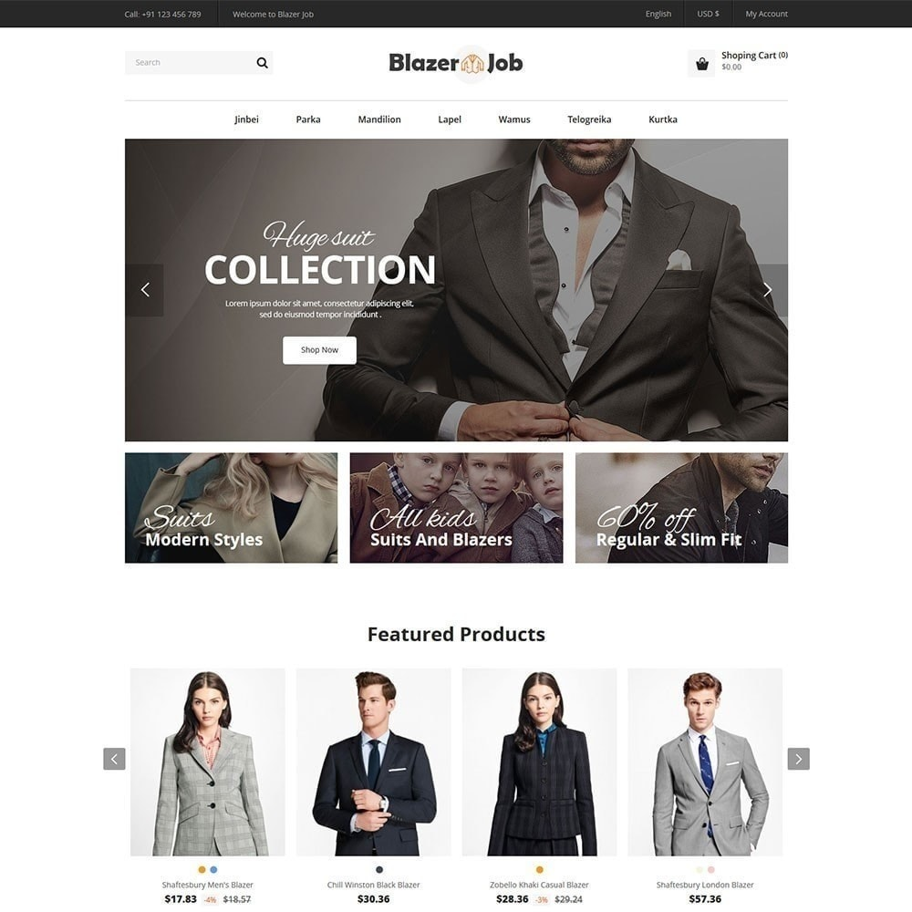 theme - Moda & Calzature - Blazerjob Fashion Store - 3