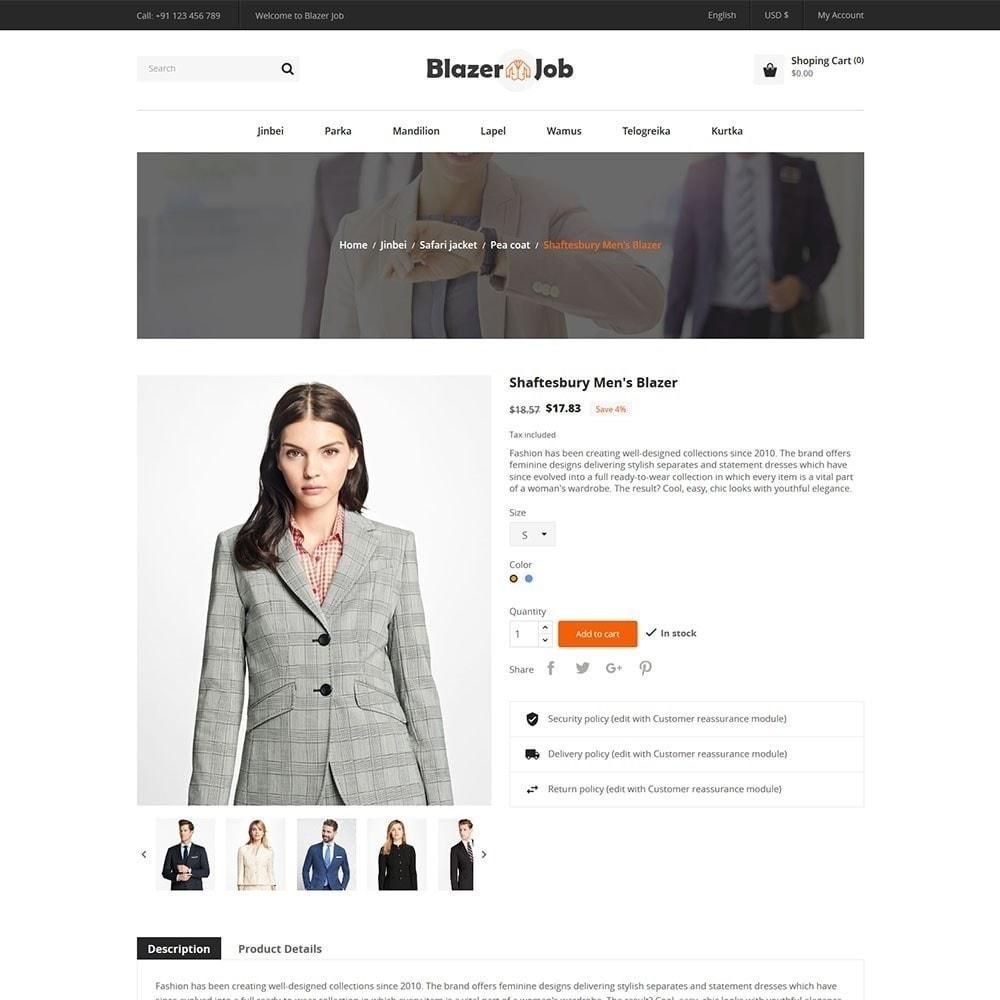 theme - Moda & Obuwie - Blazerjob Fashion Store - 2