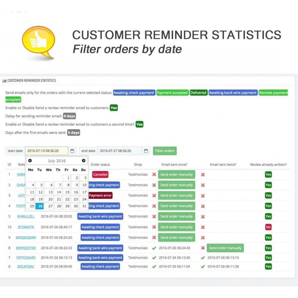 module - Comentarios de clientes - Shop Reviews + Avatars + Reminder + Rich Snippets - 18