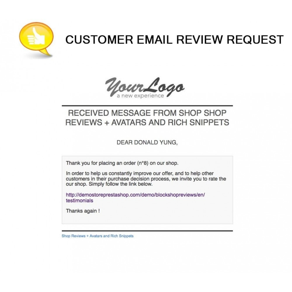 module - Customer Reviews - Shop Reviews + Avatars + Reminder + Rich Snippets - 21