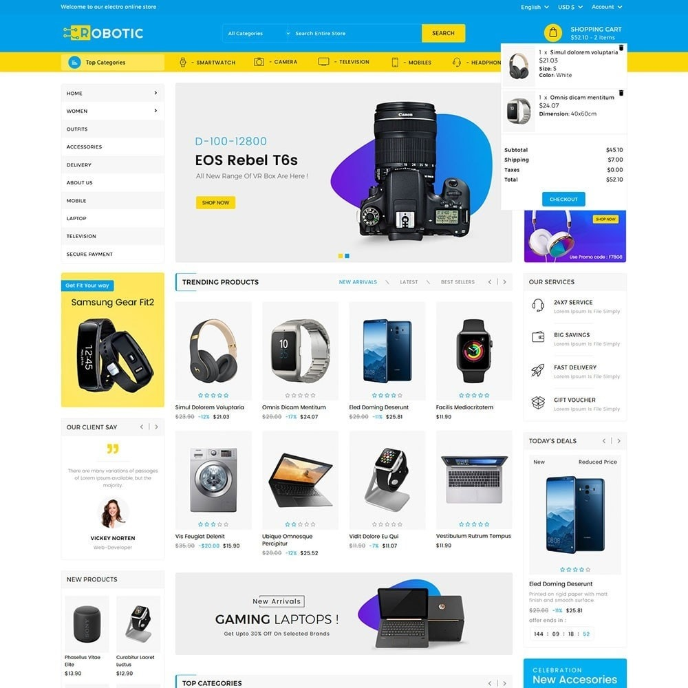 theme - Electronique & High Tech - Robotic Electronics Store - 3