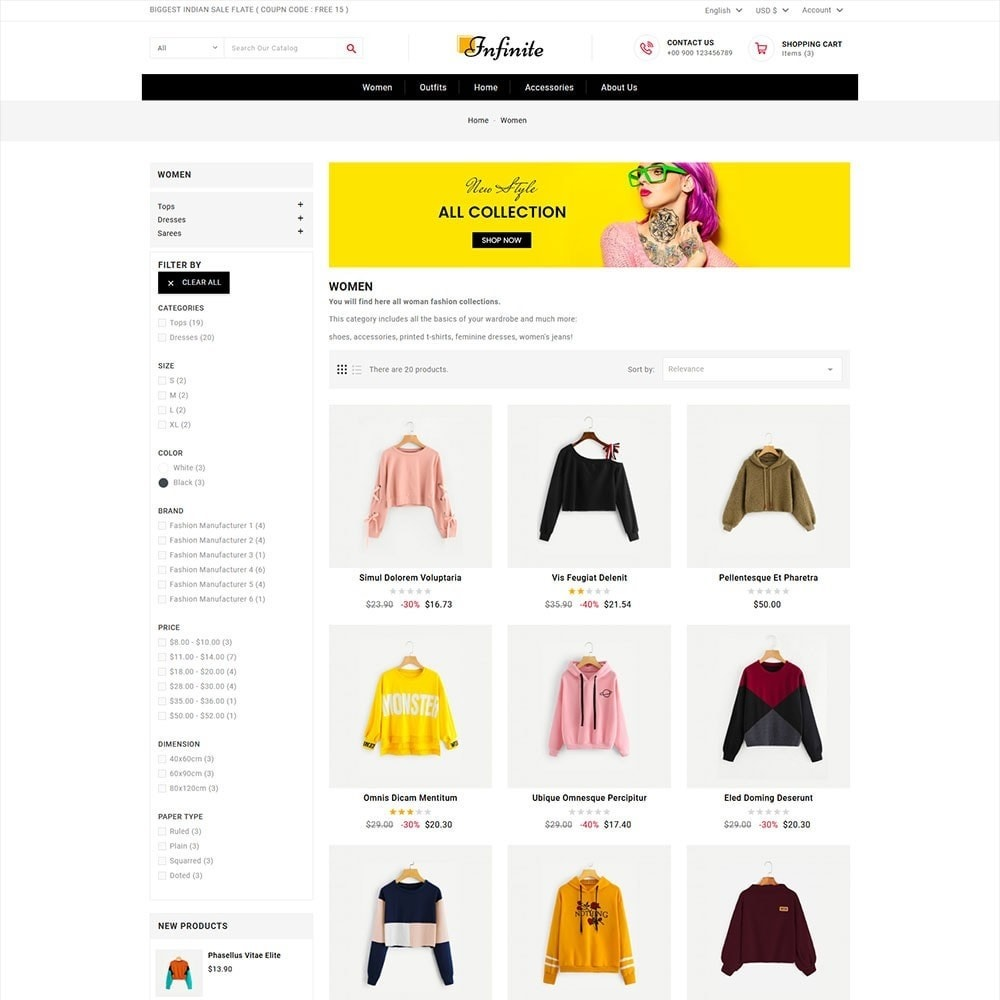 theme - Mode & Chaussures - Infinite Fashion Store - 5