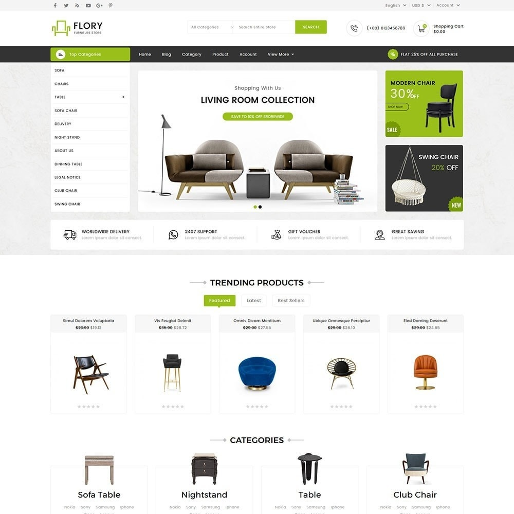 theme - Home & Garden - Flory Wood and Furniture Store - 2