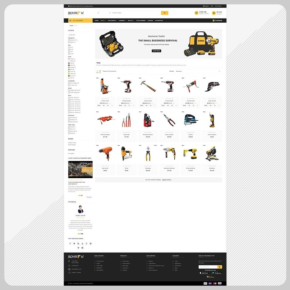 theme - Automotive & Cars - Bohren Outils - Tools Big Store - 3