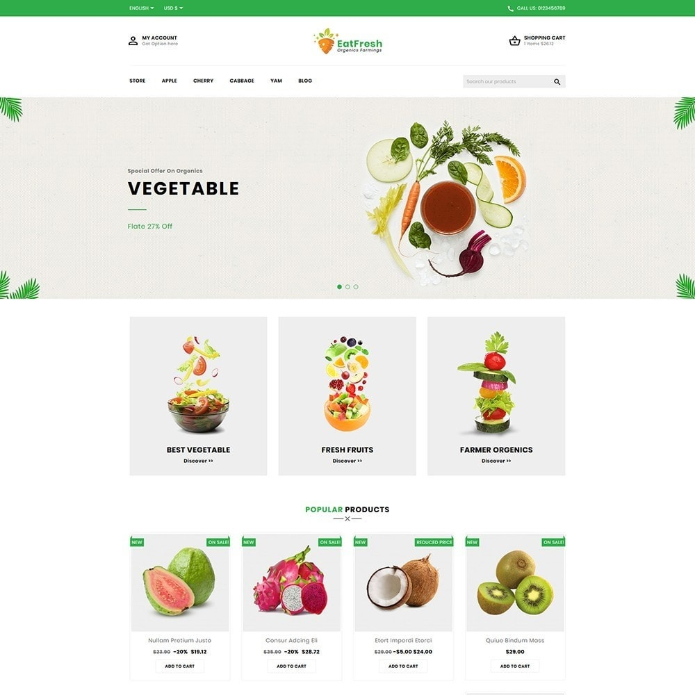 EatFresh Vegetables & Fruits Shop