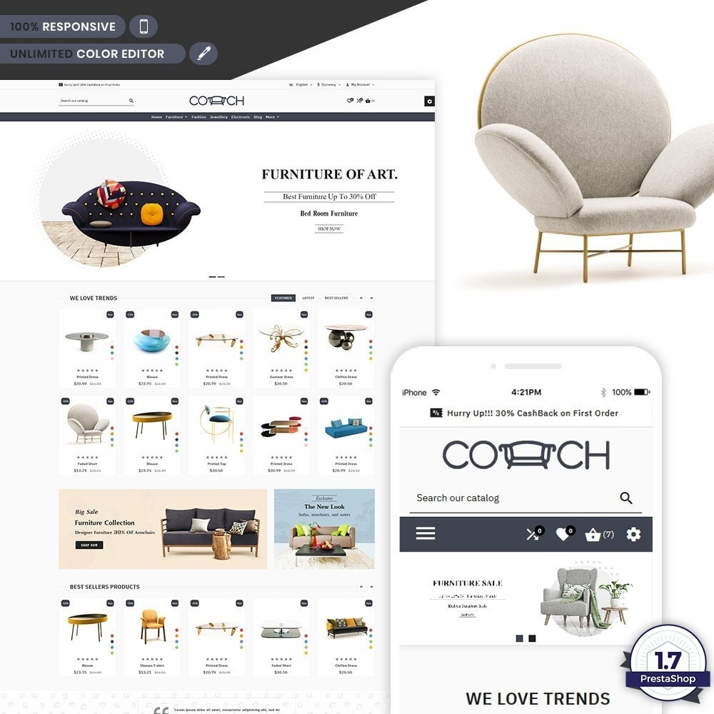 Coach - Moden Furniture Store