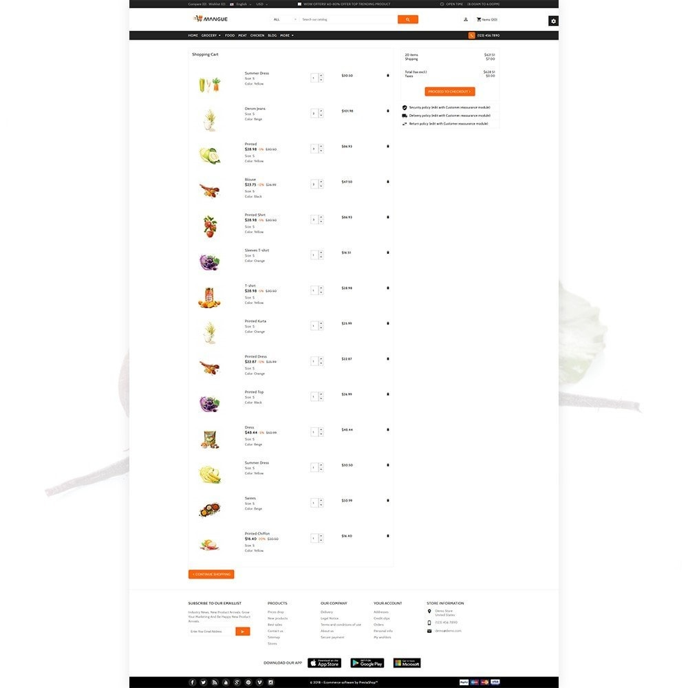 theme - Alimentation & Restauration - Mangue - Instant Grocery Food Shop - 4