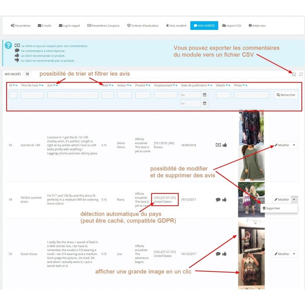 module - Avis clients - Commentaires avancés avec photos + Google rich snippets - 12