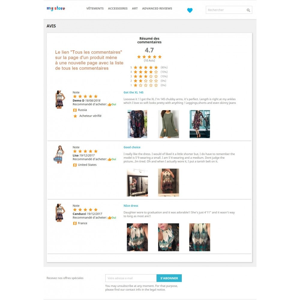 module - Avis clients - Commentaires avancés avec photos + Google rich snippets - 16