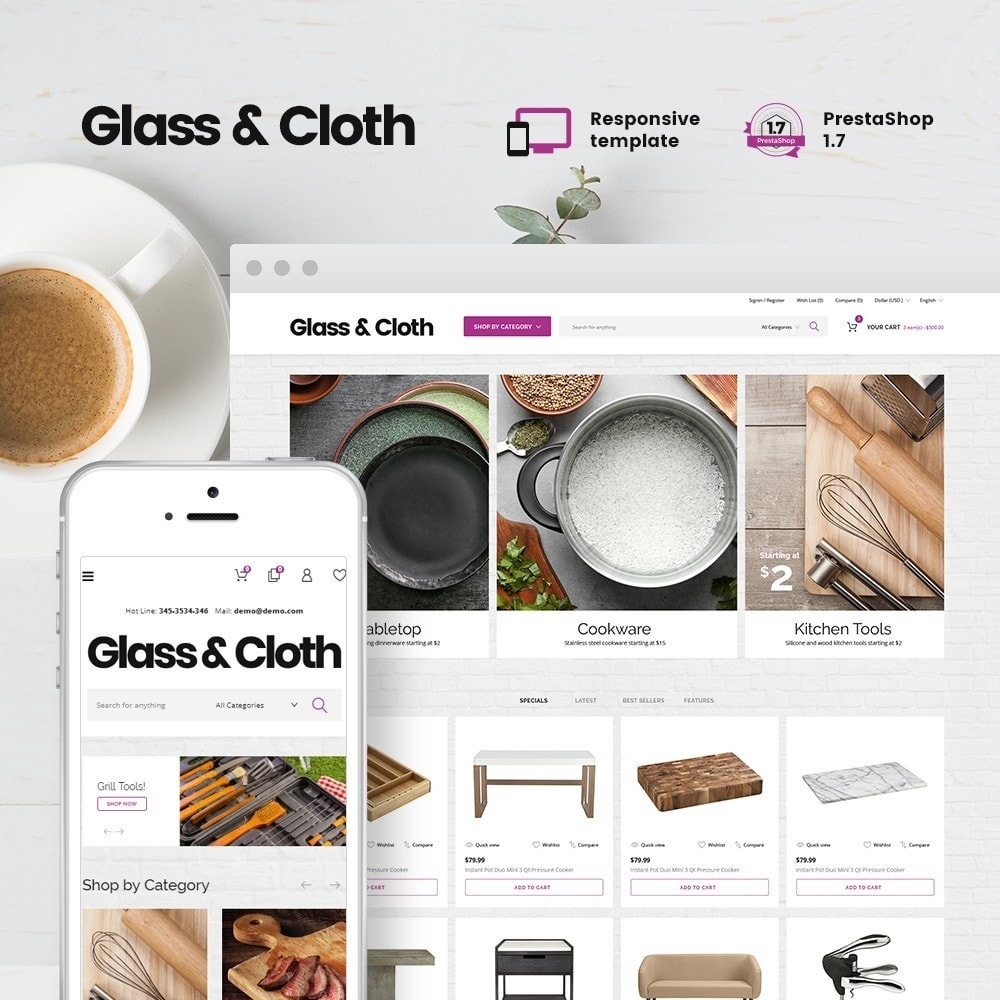 Glass and Cloth - Dishes Store